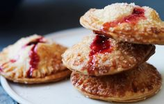 Cranberry Hand Pies - Bon Appétit Another new idea for Thanksgiving. Köstliche Desserts, Delicious Desserts, Dessert Recipes, Yummy Food, Pie Dessert, Eat Dessert First, Cranberry Recipes, Holiday Recipes, Cranberry Pie