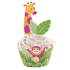 Jungle Pals Cupcake Wraps 'N Pix Set, 72361