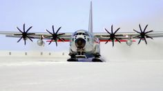 Williams Field, Antarctica, has two snow runways limited to ski-equipped aircraft during the summer season. Airplanes land on 8m of compacted snow, lying on top of 80m of ice, floating over 550m of water. Must be a blood-chilling experience.