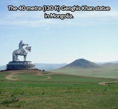 Giant Genghis Khan statue in Mongolia, someday I'm going to see this!