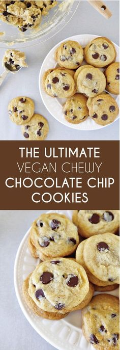 These ultimate chewy chocolate chip cookies are sure to be a hit with your friends and family! They are easy, delicious, and vegan-friendly!