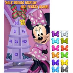 Minnie Dream Party Pin The Bow on Minnie Game