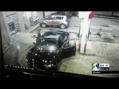 RAW VIDEO: Surveillance camera shows shootout at Atlanta gas station