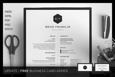 Resume/CV - Brice by bilmaw creative on @creativemarket