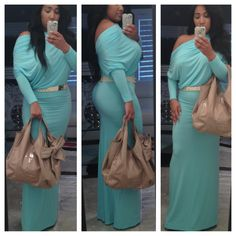 """The """"mint condition"""" I paired this fab dress with a metal plate belt and a lovely Valentino tote!"""
