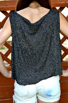 Cropped HiLow Sparkle Tank Vintage by UndeadThreadVintage on Etsy, $10.00