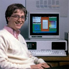 Bill Gates and the first version of MS Windows