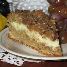 Polish Cream Cheese Coffee Cake, photo by AuntE Köstliche Desserts, Delicious Desserts, Yummy Food, Baking Recipes, Cake Recipes, Dessert Recipes, Yummy Recipes, Polish Recipes, Polish Food