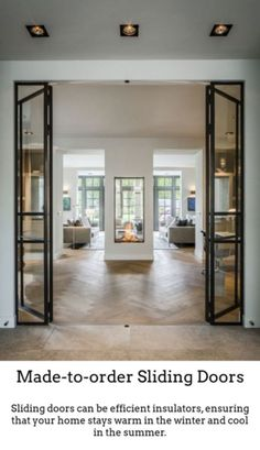 Guides to Choosing A Glass Door Design That'll Fit Your House - Haus - Style At Home, Double Sided Fireplace, Direct Vent Fireplace, European House, Interior Decorating, Interior Design, Interior Modern, Modern Interiors, Design Interiors