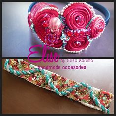 a red chinese headband and nelt fully beads with crystals sequins swarovsiki , design by me .