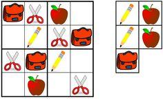 sudoku: terug naar school Beginning Of School, Back To School, Pre K Games, Sudoku Puzzles, Higher Order Thinking, Math Addition, School Items, Math For Kids, Preschool Kindergarten