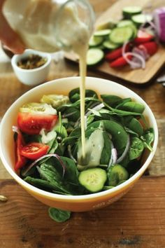 After all that heavy holiday food, a light dinner full of savory fall flavors is just the ticket. Try this Spinach Salad with Toasted Pepitas and Creamy Vegan Dressing for a simple and delicious meal. It's easily altered too, so add in your other favorite vegetable toppings if you're feeling adventurous!