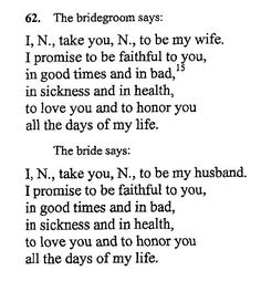The Cutest Wedding Vows