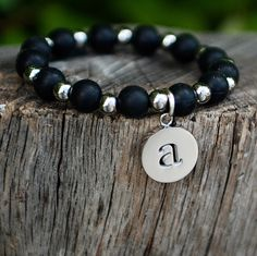 """I want this with a """"C"""" for Cohen...since his favorite color is black. {Erin Initial Black (A-Z)}"""