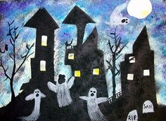 Haunted house stencil gr. 4