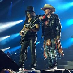 Guns N' Roses founders (from left) Slash and Axl Rose, open their Not In This…