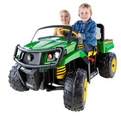 Peg Perego John Deere Gator XUV hauls toys, leaves, and MORE! Carries two riders at once! This all-new John Deere Gator XUV 550 is the perfect vehicle for little helpers! They'll tool around the yard in this life-like rider, just like grandpa and dad! Features a huge working dump bed with a... more details available at https://perfect-gifts.bestselleroutlets.com/gifts-for-holidays/toys-games/product-review-for-peg-perego-john-deere-gator-xuv-green/