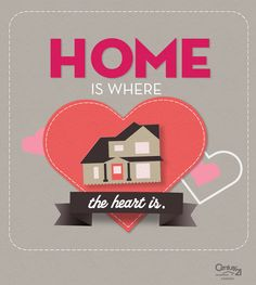 #Home is where the #heart is. Real Estate #Valentines card