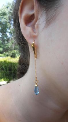 Swarovski crystal chain earrings – in different colors - international shipping