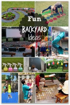 Great ideas for when we have our own backyard