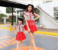 (26.09$)  Watch here - http://ait0c.worlditems.win/all/product.php?id=32321428806 - Matching Mother and Daughter Clothes Dress Plus Size M-XXXL Cute Fashion Family Matching Outfits Clothing Retail 2015 MB012