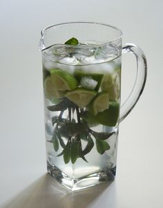 Minz-Limetten-Wasser