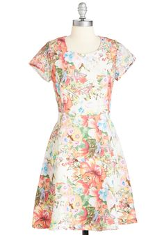 Spring Sensation Dress. Celebrate the warmer weather in the bright botanical beauty of this A-line dress! #multi #modcloth