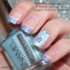 The 31 Day Challenge 2014: 31. Honor nails you love #31DC2014 elegant violet by ValAngelNails