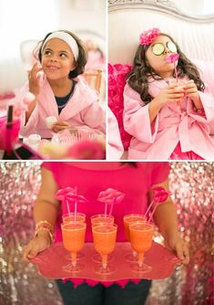 A Glitzy & Glam Barbie Spa Birthday Party // Hostess with the Mostess® barbie spa party activities Spa Party Foods, Spa Day Party, Girl Spa Party, Pamper Party, Sleepover Birthday Parties, Barbie Birthday Party, Barbie Party, Paris Birthday, Bachelorette Parties