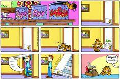 Daily Comic Strip on July 1993 Garfield And Odie, Garfield Comics, Funny Memes, Funny Stuff, Comic Art, Comic Books, July 18th, Favorite Cartoon Character, Gatos