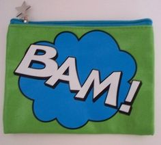 Two's Company - Pop Art Cosmetic Bag - BAM! Green and Blue by Two's Company. $11.49. Zipper closure keeps your items secure; Makes a perfect gift for the super hero in your life!; Retro comic book cartoon inspired design; Fully lined interior; Made of Laminated Cotton Canvas. Unleash your inner super hero with this retro comic book cartoon inspired Pop Art Cosmetic Bag from Two's Company! Great to use for cosmetics but can also be used as a change purse, mini clutch ...