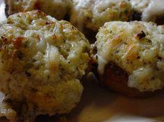 cheese and Pesto-Stuffed mushrooms