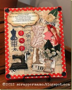 Sewing Theme 8x10 Canvas