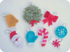 Ornaments for homemade advent calendar