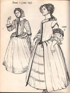 1690's Women's Fashion.
