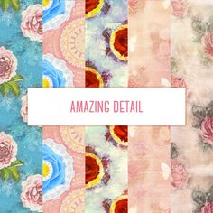 Once upon a rose (digital paper pack)