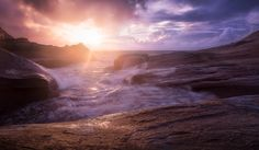 Cape Kiwanda, USA.  #seascape #sun #sunrays #sunset #coast #fineart #sea #fineartphotography #USA #Glow #landscape #Glowing #landscapephotography #ocean #waves #marcoromani #travel  #marcoromaniphotography #outdoorphotography #Nikon #Feisol #Nikkor #NikonD800 #clouds #rocks #dramatic #kiwanda
