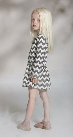 Gorgeous chevron dress. Sometimes simple wins the fashion race. #designer #kids #fashion