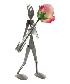 Love this Rosebud Holder Fork Figurine by Forked Up Art on #zulily! #zulilyfinds