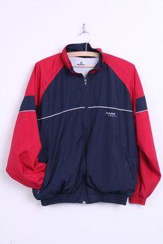 MARS Womens 36 S Bomber Jacket Track Top Blue Sportsline Blue - RetrospectClothes