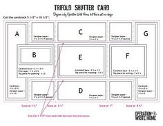 Double Trifold Cascade Card Template page 2 of 2 TEMPLATES