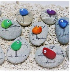 """Find and save images from the """"Kreativ - Rock / Stone / Pebble Art"""" collection by Gabis Welt :) (gabi_zitzen) on We Heart It, your everyday app to get lost in what you love. Pebble Painting, Pebble Art, Stone Painting, Mandala Painting, Easy Crafts, Diy And Crafts, Crafts For Kids, Arts And Crafts, Homemade Crafts"""