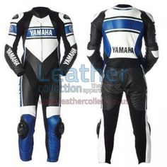 Yamaha Blue Motorbike Racing Leather Suit is especially designed for professional riders to fulfil their biking passion on track with great safety. This suit features excellent design & comfort,100% genuine Cowhide leather, Additional Layer of Leather on Shoulder, Elbow, Knee & Hip for extra protection from crash or drag, Pre-Curved Sleeves for Proper riding Position, Semi auto-lock YKK zippers at Front, Cuff & Calf, Velcro's for attaching Knee Slider are sewn.