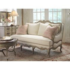 Highland House Furniture 4106 77 Le Regence Sofa Fuzzy Antler Reps