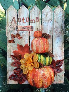 PaperOcotilloStudio: Autumn Blessings Decor - Spark Some Creativity with the Kra. - PaperOcotilloStudio: Autumn Blessings Decor – Spark Some Creativity with the Kraaft Shaak Informat - Pier 1 Decor, Persian Decor, Apothecary Decor, Candy Cane Decorations, Decorative Gourds, Gelli Arts, Happy Fall, Holiday Crafts, Blessed