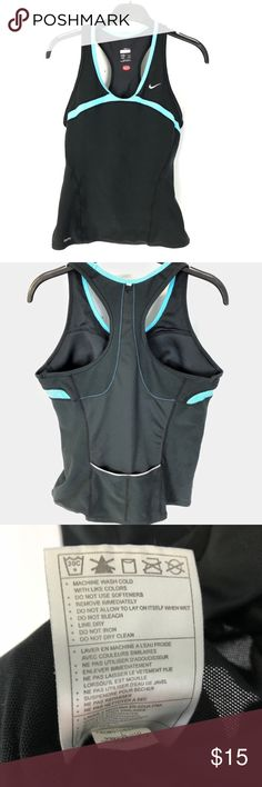 NIKE WOMENS DRI-FIT WORKOUT RUNNING TANK TOP L Built in bra and 2 pockets