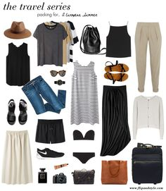 street style - skinny jeans, crop top, long black skirt, cardigan, sandals, hat, sunglasses, backpack, shorts, striped top, swimwear (weekend)
