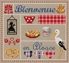 "Madame la fée - ""Bienvenue en Alsace""  130 x 120 points"