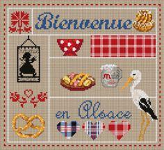"Madame la fée - ""Bienvenue en Alsace"" 130 x 120 points"