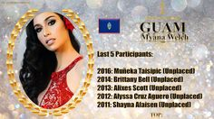 Myana Welch Miss Universe 2017 contestant banner Guam